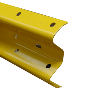 Corrugated Beams Powder Coated Yellow